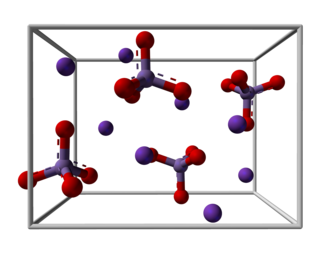Potassium manganate - Image: Potassium manganate unit cell 3D balls
