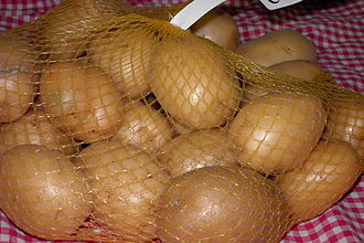 "Agata potato - Store-bought ""Agata"" potatoes."