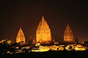 Sanjaya dynasty -  The Prambanan temple complex, one of the legacies of the Sañjaya dynasty