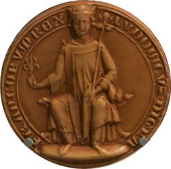 Premier sceau de majesté de Louis IX détouré.png