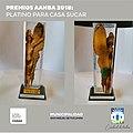 Premio Platino otorgado por la Asociación Art Nouveau Buenos Aires a la Casa Sucar, el 28 de septiembre de 2018.jpg