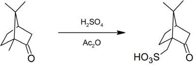 Preparation of camphorsulfonic acid.png
