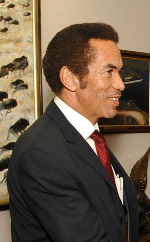 Interracial marriage - President Ian Khama of Botswana, son of Motswana man Sir Seretse Khama and Englishwoman Ruth Williams Khama
