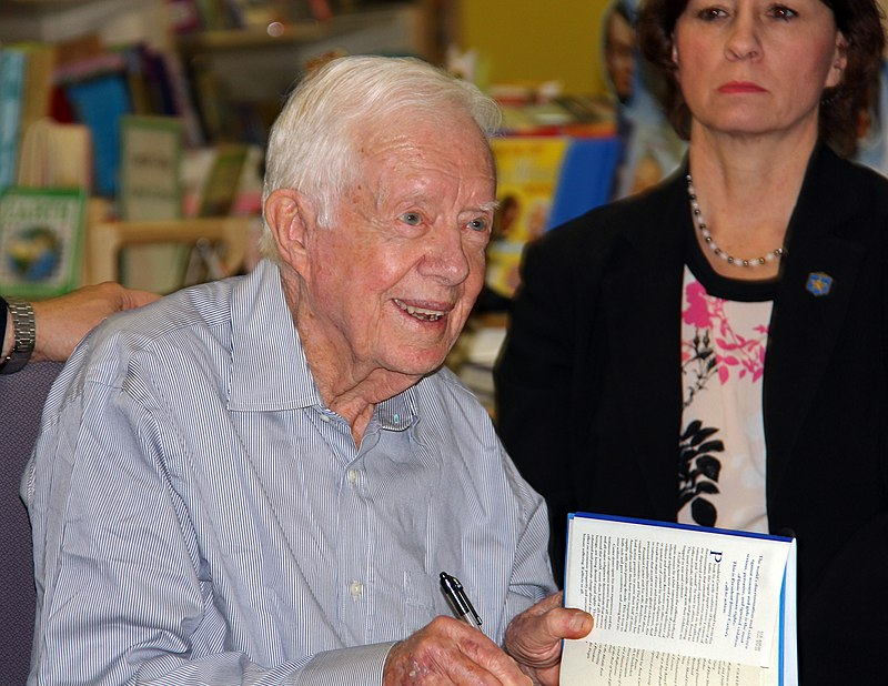 President Jimmy Carter at Quail Ridge Books-Raleigh NC-jmturner-2014-04-02.jpeg
