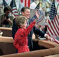 President Reagan Nancy Reagan during a trip to Dallas Texas and celebration at the 1984 Republican National Convention (cropped1).jpg