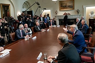 President Trump and McCarthy meeting with energy sector executives in April 2020 President Trump Meets with Energy Sector Executives (49742066493).jpg