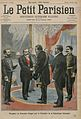 President of the French Republic Emile Loubet (1838-1929) welcoming President of the Transvaal Republic Paul Kruger (1825-1904) to the Elysee Palace, in Paris. Frontpage of French newspaper Le Petit Parisien. December 8, 1900.jpeg