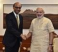 Prime Minister Narendra Modi meets Tharman Shanmugaratnam, Deputy Prime Minister of Singapore.jpg