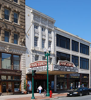 Proctor's Theatre (Schenectady, New York) - South elevation and marquee, 2009
