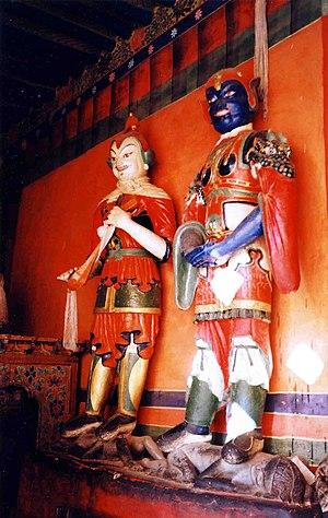 Ralung Monastery - Protective deities at Ralung Monastery, 1993.