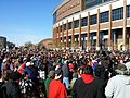 Protest against Washington football team name at TCF Stadium (15692618845).jpg