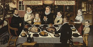 A protestant Family during dinner