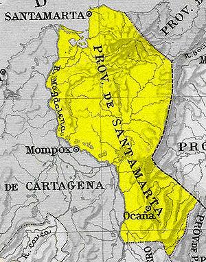Santa Marta Province - Map