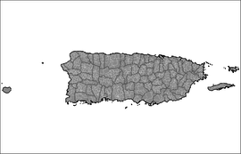 Mapa de los 901 barrios reconocidos por el Censo de 2010.