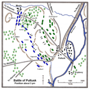 Battle of Pułtusk about 3 PM