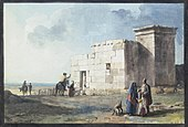 Painting of the Punic building by Jean-Pierre Houël, 1770s