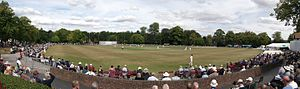 Derbyshire County Cricket Club - Queen's Park, Chesterfield, Derbyshire's most used outground.