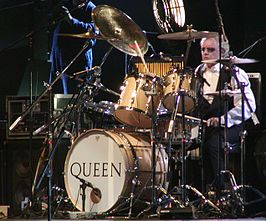 Roger Taylor live met Queen en Paul Rodgers in Frankfurt in 2005