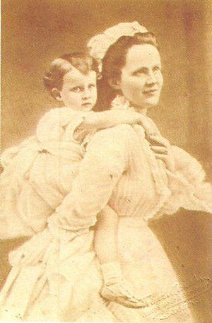 Princess Maria of Romania (1870–1874) - Image: Queen Elisabeth and Princess Marie of Romania