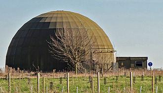 RAF West Raynham - The former Rapier missile training dome at RAF West Raynham