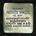 Radnóti Miklós stolperstein (Budapest-13 Pozsonyi út 1).jpg