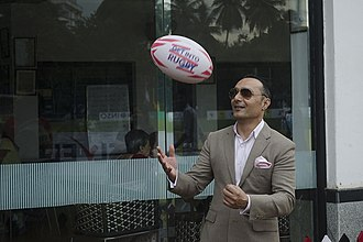 Rahul Bose - Rahula Bose juggles a rugby ball at the All India & South Asia Rugby Tournament
