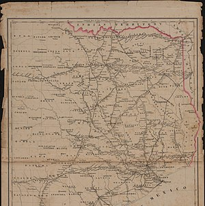 East Texas - Railroad map of Texas, east of the 100th meridian (circa 1884)