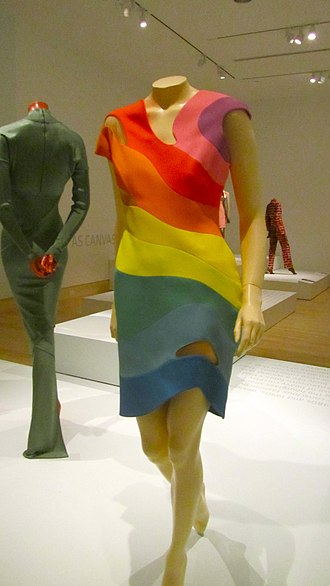 Thierry Mugler - Image: Rainbow dress by Thierry Mugler