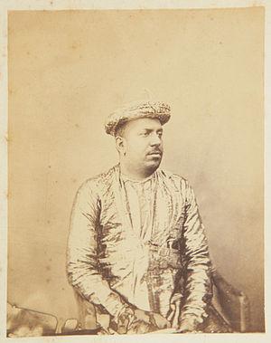 Rama Varma XIV - Rajah of Cochin. Circa 1868