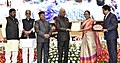 """Ram Nath Kovind presenting the """"Vayoshreshtha Sammans - 2017"""" to eminent senior citizens and institutions in recognition of their service towards the cause of the elderly persons, at a function, in New Delhi (2).jpg"""