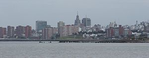 Barrio Sur, Montevideo - Skyline of Ciudad Vieja and Barrio Sur