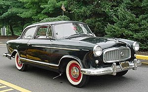 "Whitewall tire - 1950s Rambler American with vintage aftermarket ""curb feeler"""