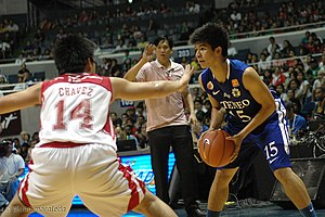 Kiefer Ravena - Ravena during his rookie year against the UE Red Warriors.