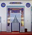 Ravensburg Mevlana-Moschee Gebetsraum Mihrab 01.jpg