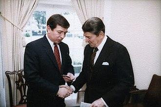 John Ashcroft - Ashcroft with President Ronald Reagan in 1984