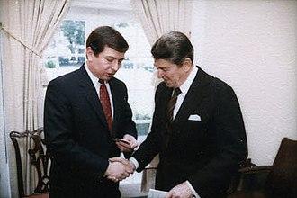 John Ashcroft - Ashcroft with President Ronald Reagan in 1984