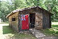 Reconstructed XY Company trading post, front, Forts Folle Avoine Historical Park.jpg