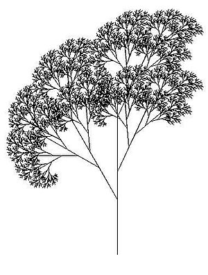 Recursion (computer science) - Tree created using the Logo programming language and relying heavily on recursion. Each branch can be seen as a smaller version of a tree.
