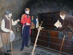 Honours of Scotland - Rediscovering the Honours in 1818. Tableau at Edinburgh Castle.