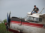 Refuelling an Antonov An-2 at MKT Airfield.jpg