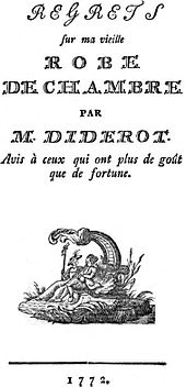 diderot dressing gown essay