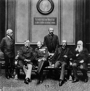 German Conservative Party - Members of the DKP parliamentary group in the Reichstag (1889), third from left: Helmuth von Moltke