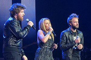 Haley Reinhart - Reinhart performing with Casey Abrams and Paul McDonald on the Idols Live Tour, July 2011