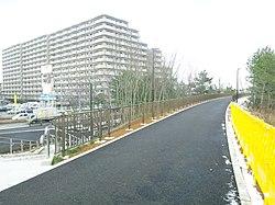 東青山駅のあった場所は自転車 ...