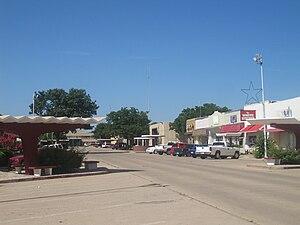 Littlefield, Texas - Partial view of downtown Littlefield