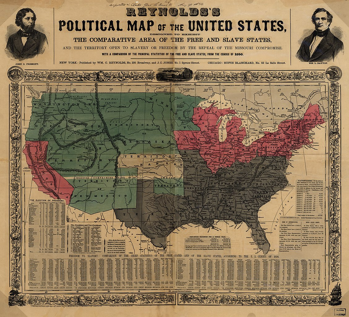 File Reynolds S Political Map Of The United States 1856 Jpg