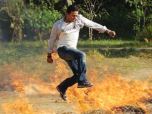 Riaz filmography - Riaz a shooting in fire on 2007