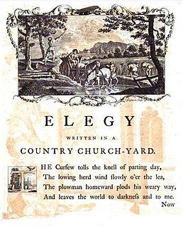 <i>Elegy Written in a Country Churchyard</i> poem by Thomas Gray