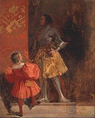 """A Knight and Page (from Johann Wolfgang von Goethe's """"Götz von Berlichingen"""" )"""