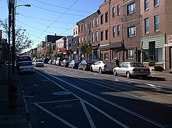Richmond Street, one of the area's main thoroughfares in Port Richmond (2005) in Near Northeast Philadelphia.